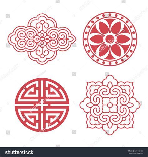 set of oriental design elements stock vector image 22896967 set vector korean traditional design elements stock vector