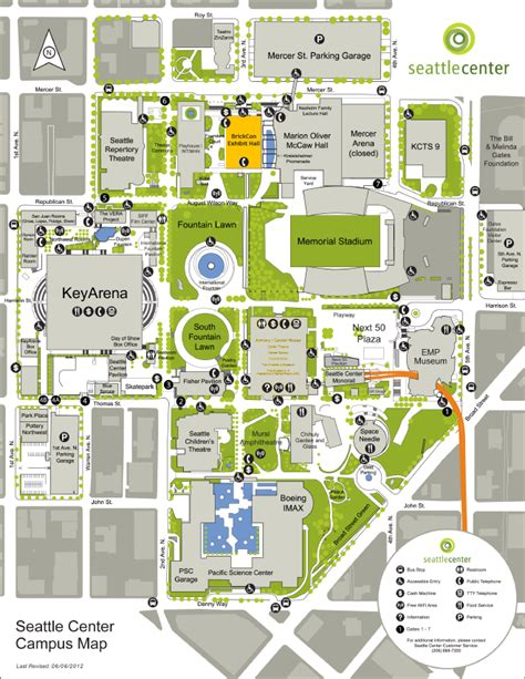 map of center seattle center map brickcon