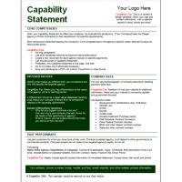 Capabilities Statement Template by Targetgov Capability Statement Editable Template Targetgov