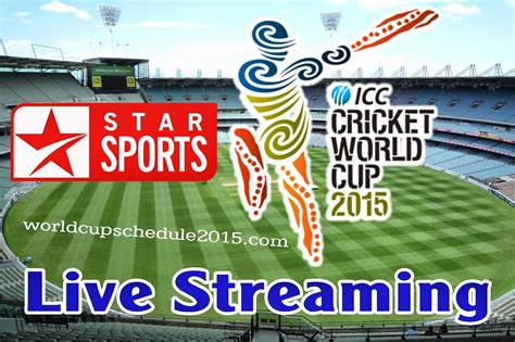 worldcup live cricket world cup 2015 live tv channel