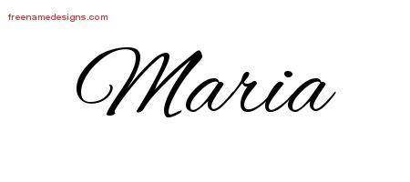 tattoo lettering maria cursive name tattoo designs maria free graphic free name