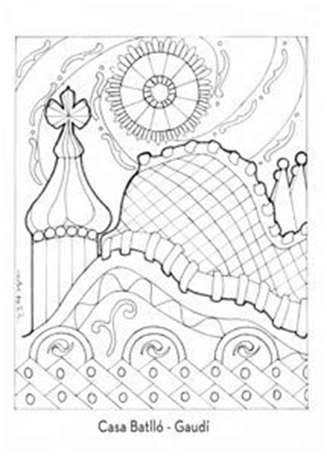 antoni gaudi colouring book 1000 images about gaud 205 on gaudi mandalas and search