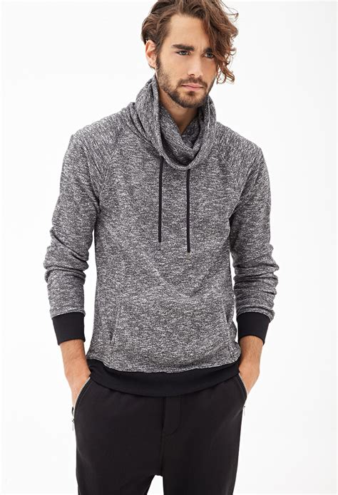 Funnel Neck mens funnel neck hoodie trendy clothes