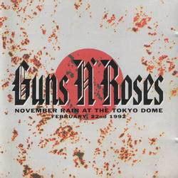 guns  roses november rain   tokyo dome cd