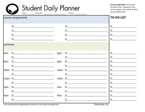 student weekly planner printable free day planners weekly planner and planners on pinterest
