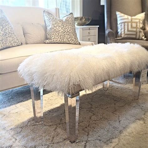 mongolian fur bench mongolian fur bench home decor pinterest