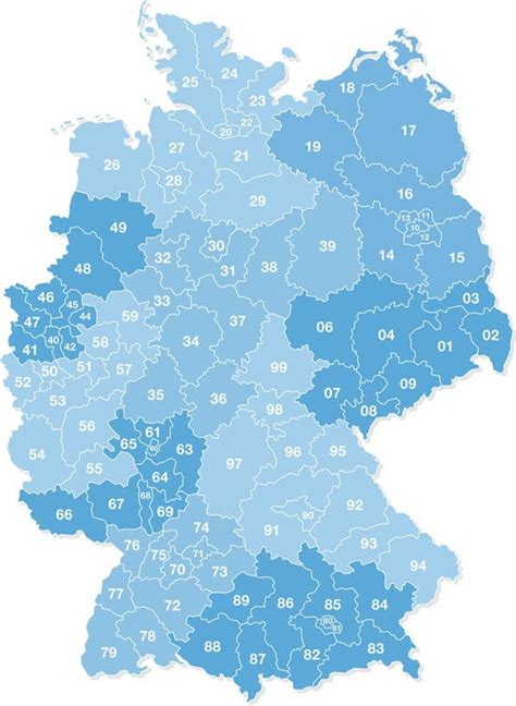 zip code map germany postal codes in germany postal codes germany postal