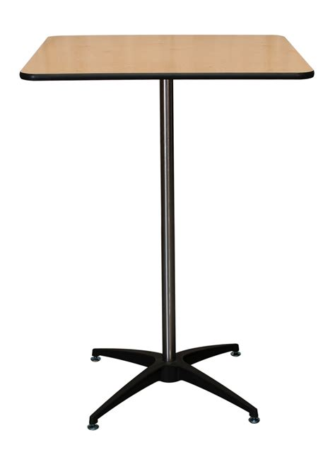 square high top table 30 quot square x 42 quot cocktail table rental