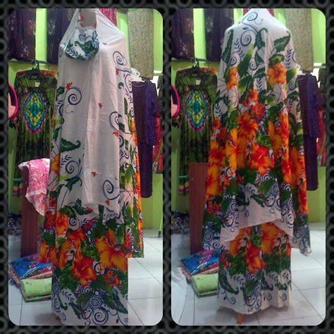 Blouse Wanita Kotak Green Rok mukena pusat grosir baju batik modern pekalongan murah