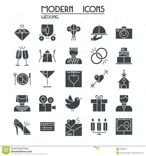 wedding clipart tiff wedding icons set stock vector illustration of design