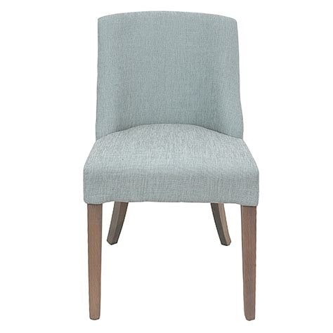 ophelia fabric dining chair duck egg blue