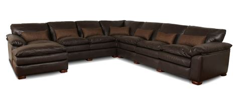 deep sectional geneva deep leather sectional