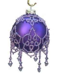 Swarovski Christmas Ornament - arhyonel designs lace picot beaded ornament cover pattern