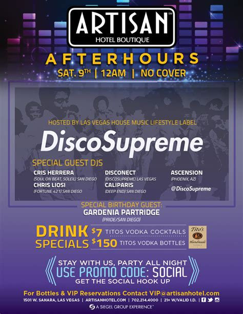 vegas house music 1 9 artisan afterhours saturday hosted by las vegas house music lifestyle label