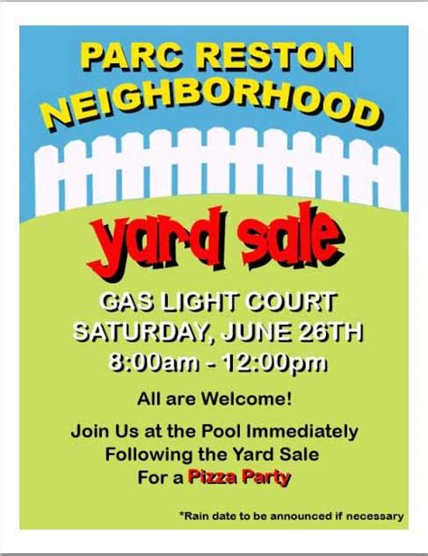 yard sale template 15 free yard sale flyers of great help demplates