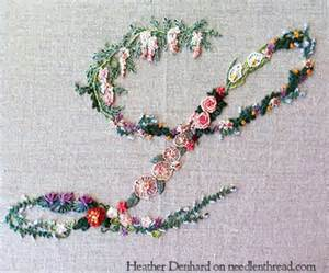 Decorative Stitch Lovely Hand Embroidered Monograms Needlenthread Com