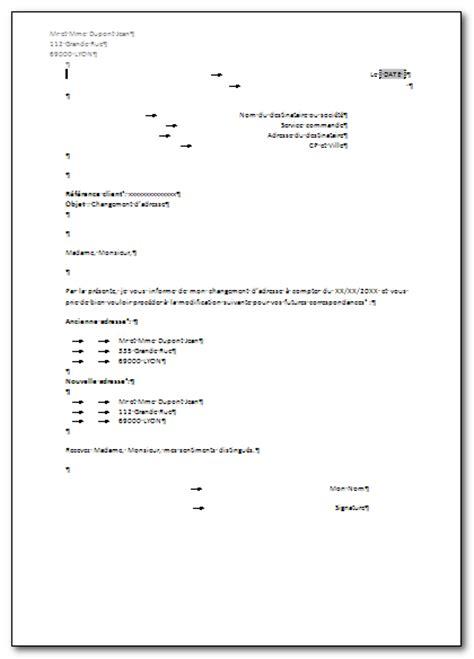 Exemple De Lettre Pour Un Changement D Adresse Sle Cover Letter Exemple De Lettre Pour Un Changement D Adresse