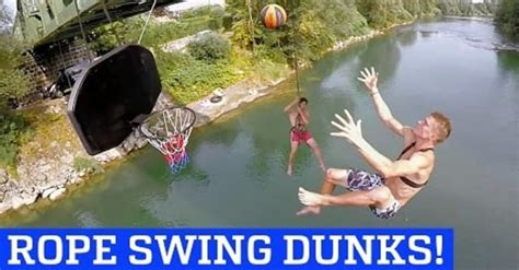 people are awesome epic rope swing acrobatic dunks