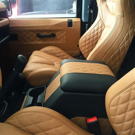 quilted leather seats jeep quilted leather interior on the defender custom made in