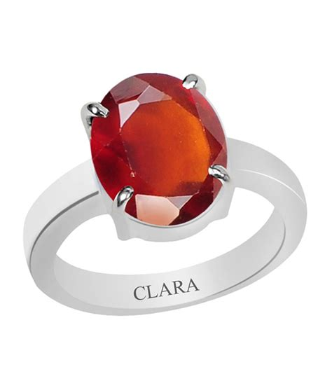 Hessonite Garnet 2 14 Cts clara certified gomed hessonite 3 cts 4 prongs silver