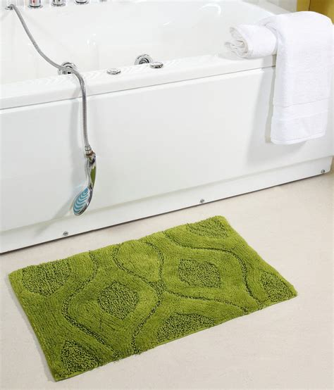 Bath Flower Green homefurry green bed flower cotton bath mat buy homefurry