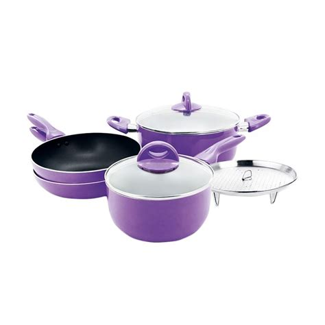 Supra Rosemary Cookware Set Ungu jual supra rosemary cookware ungu panci set 7 pcs