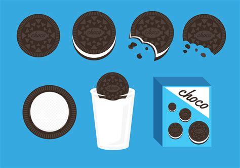 clipart vector oreo cookies illustration vector free vector