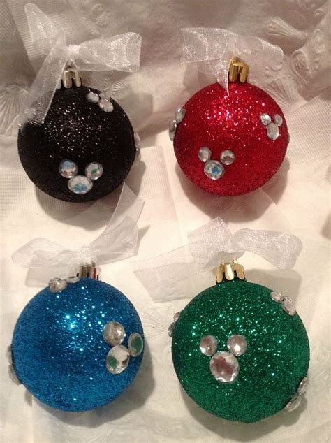 disney ornament  sparkle  red blue