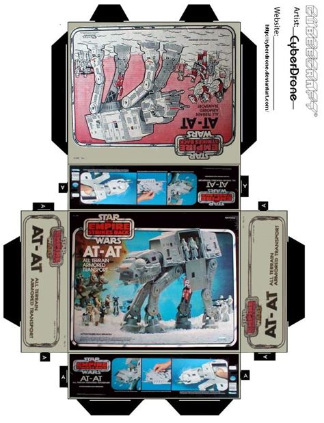 printable foldable star wars toys mini at at toy box by cyberdrone on deviantart