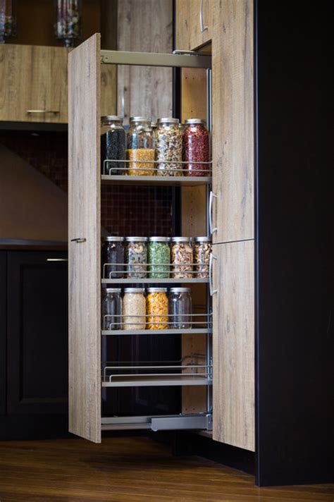 tall pull out kitchen cabinets tall pantry pull out modern kitchen seattle by