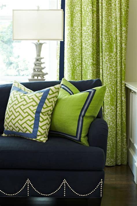 navy blue green living room cottage