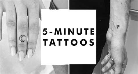32 tiny tattoos you can get inked in 5 minutes or less