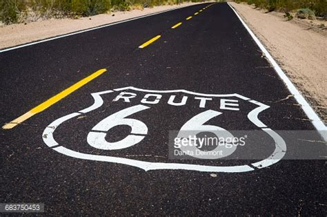 Route 66 Also Search For Highway Marker On Historic Route 66 Seligman Arizona Usa Stock Photo Getty Images