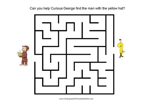 mazes for kids curious george and maze on pinterest