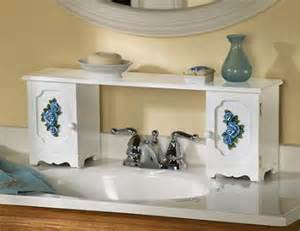 the bathroom sink shelf blue sink bathroom storage shelf wood new