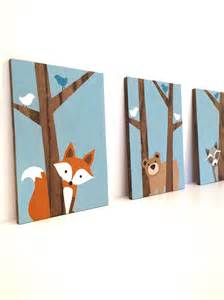 Forest Friends Nursery Decor Woodland Nursery Fox Decor Forest Friends Nursery