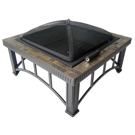 Lowes Outdoor Firepit Shop Garden Treasures 30 Quot Black Steel Wood Burning Pit At Lowes
