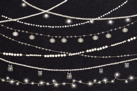 String Lights Clip Art By Lunalexx Thehungryjpeg Com Clip String Lights