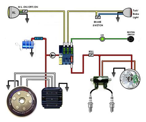motorcycle wiring diagram without battery k