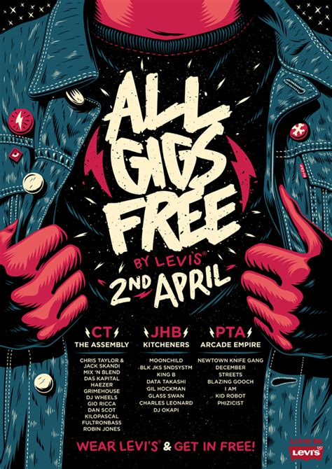 design poster for party all gigs free by levi s poster on wacom gallery