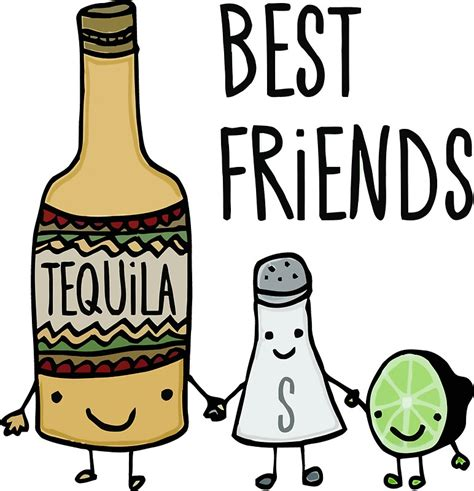 cartoon tequila quot tequila best friends quot stickers by raafi shop redbubble