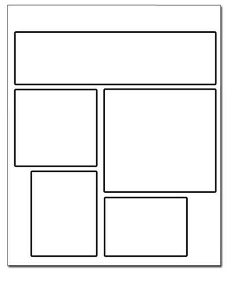 comic book page web layout