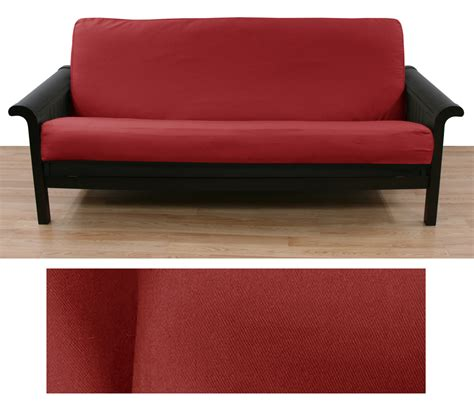 futon manufacturers cranberry red twill full size futon cover buy from