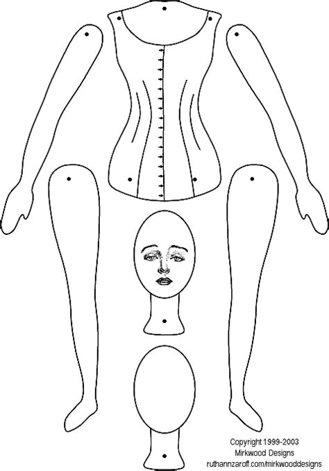 template paper doll linking paper doll template