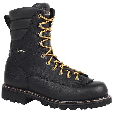 logger boots for rocky 174 great oak waterproof low heel logger boots 578330