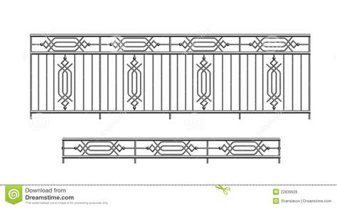 Railing Banister Railing Parapet Metal For Exterior Royalty Free Stock