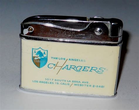 1960 los angeles chargers lot detail 1960 los angeles chargers football lighter