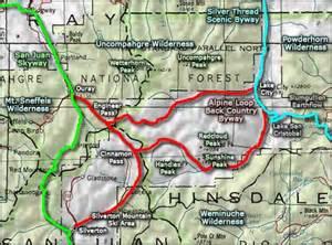 alpine loop colorado map top alpine loop scenic byway map wallpapers
