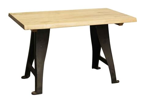 maple table legs live edge maple table with cast iron legs olde things