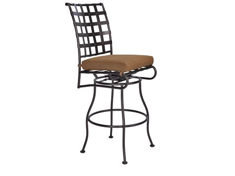 ow classico wrought iron swivel bar stool side chair